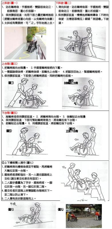 推輪椅的技巧